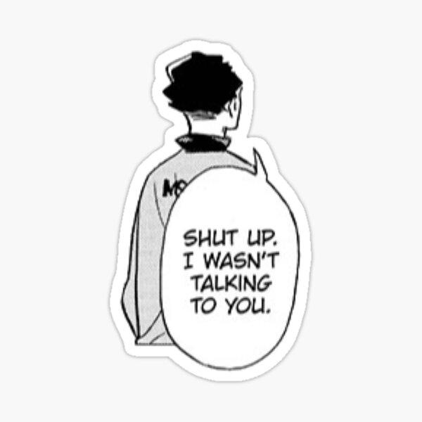 Sakusa Haikyuu Manga Cap Sticker