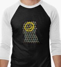 sherlock smiley wallpaper Men's Baseball ¾ T-Shirt