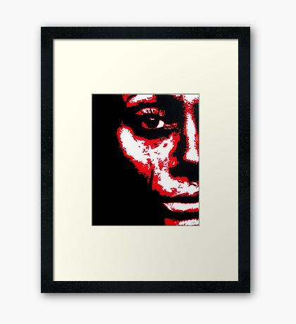 Tear Track Framed Print