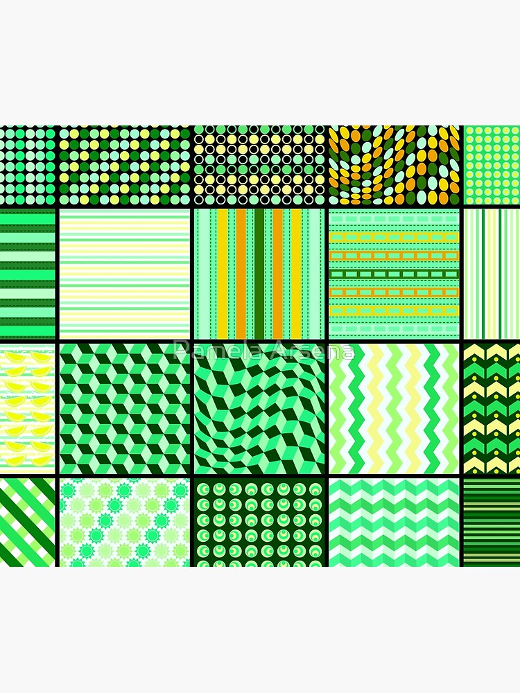 Funky Eclectic Green Patchwork Bohemian  by xpressio