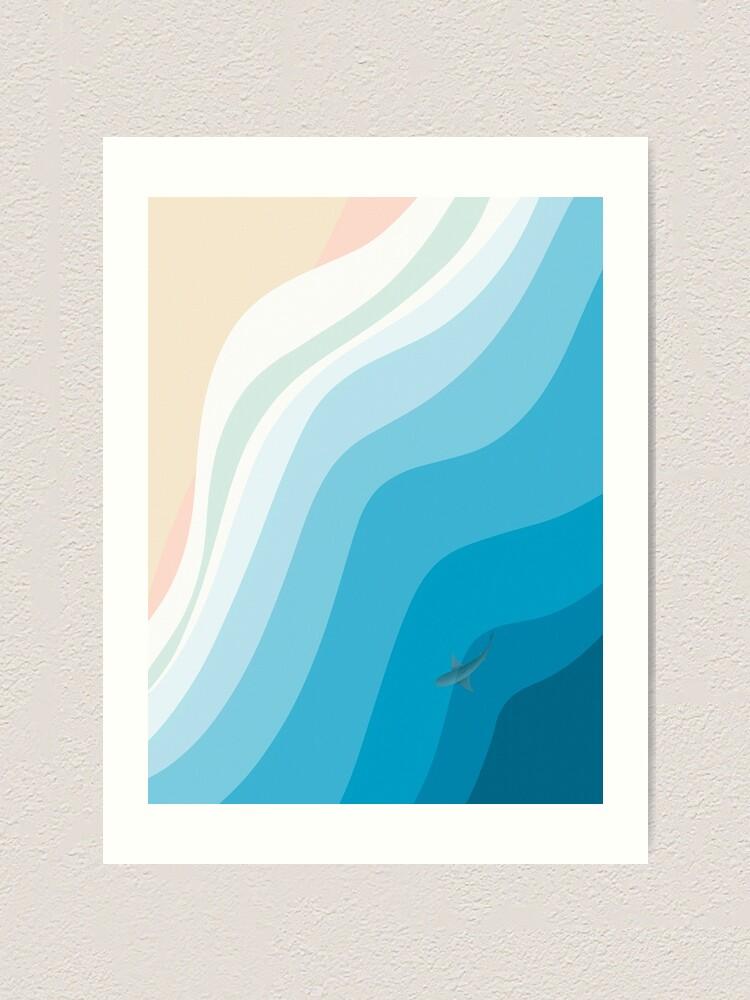 Alternate view of Aerial Shark Beach  Art Print