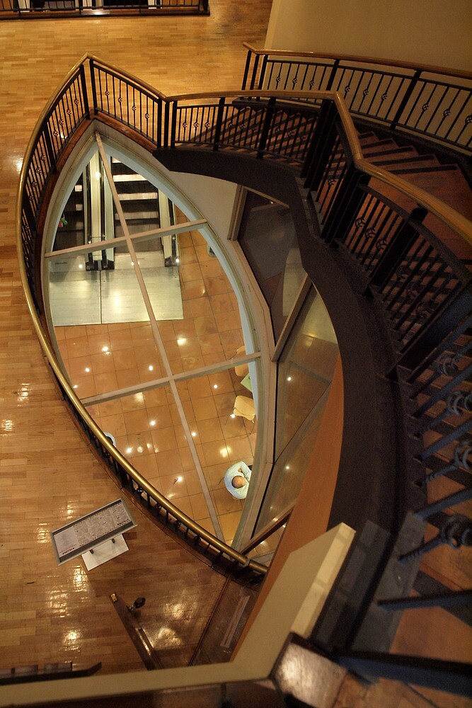 Looking Down the Stairwell by John Sharp