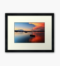 Floating Sunset Framed Print