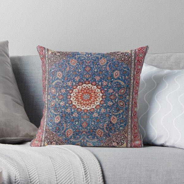 Sarouk Antique Persian Rug Print Throw Pillow