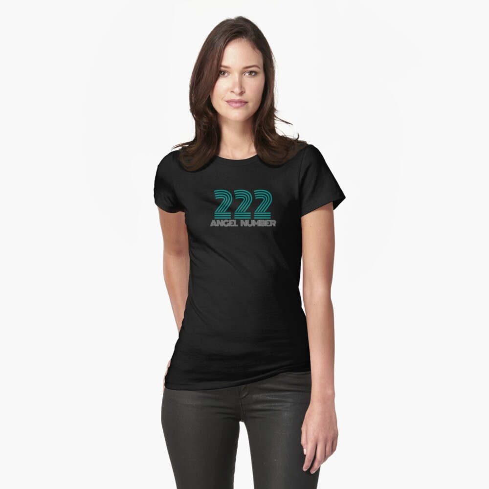 Angel Number 222  - Numerology Number 222 Fitted T-Shirt