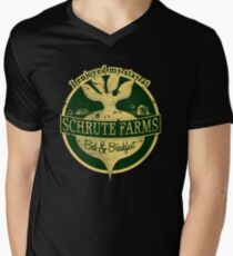 I enjoyed my stay at Schrute Farms (Green) Men's V-Neck T-Shirt