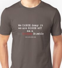RB Rumble shirt ~ Canon deny (white text) Unisex T-Shirt