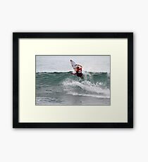 Mick Fanning at The Breaka Burleigh Pro Framed Print