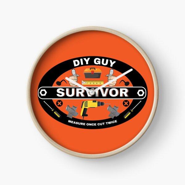 DIY Survivor - Heimwerker - Lustige DIY - Papa - Ehemann - Freund - Selbstbau - Schlechte DIY Uhr