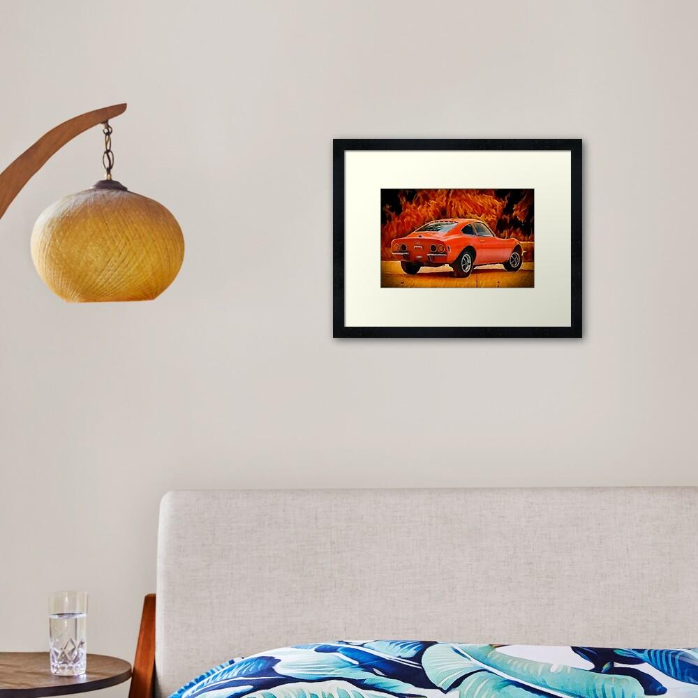 Opel Fire Framed Art Print