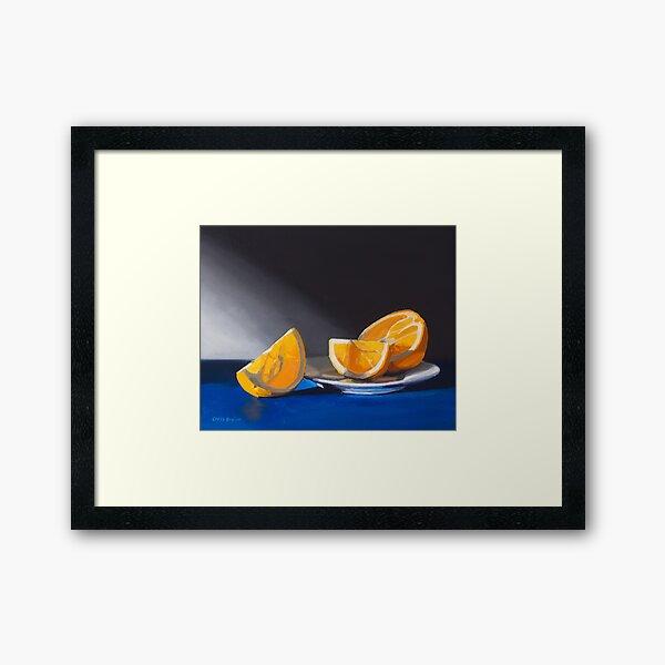 Orange Slices Framed Art Print