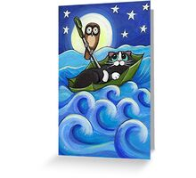 Owl and the Pussycat Greeting Card