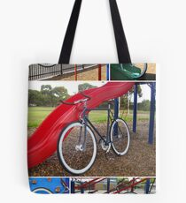 Fixie Playground Collage Tote Bag