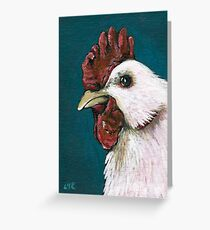 White Chicken #1 Greeting Card