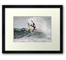 Jack Freestone Burleigh Breaka Pro Connest Framed Print