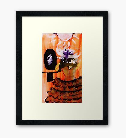 Just checking, watercolor Framed Print