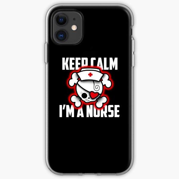 SKINK Keep calm i'm a nurse iPhone Soft Case