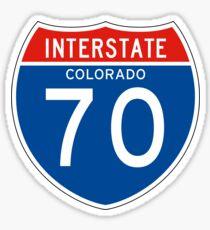 Interstate Sign 70 Colorado, USA Sticker