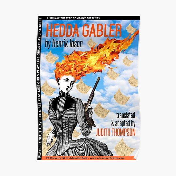 Hedda Gabler - Flaming Hair Gun Girl in Corset Poster
