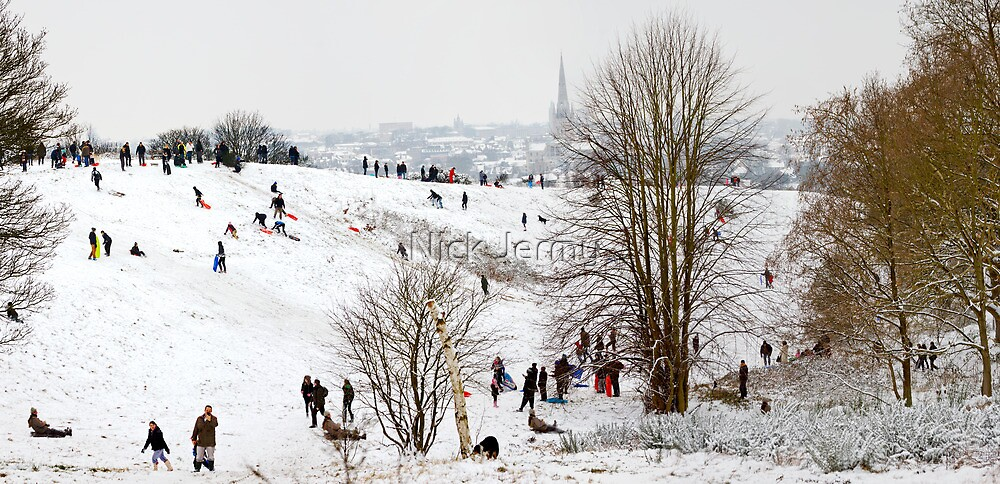 Mousehold Heath Sledging by Nick Jermy