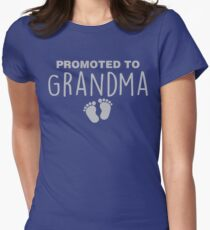 Promoted To Grandma Women's Fitted T-Shirt