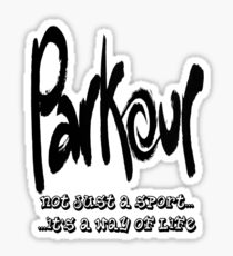 Parkour - Way of life Sticker