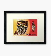 Africa Mask Framed Print