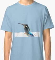 A Beautiful Kingfisher Bird Vector Classic T-Shirt