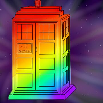 Rainbow Tardis by DoctorSherlock