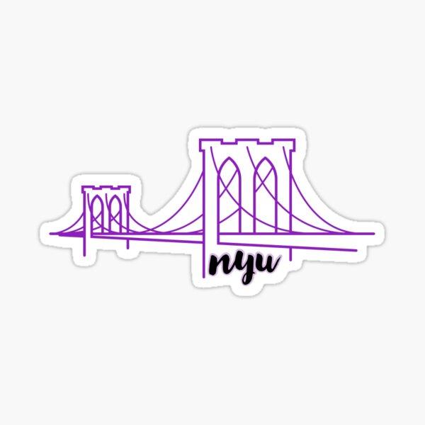 NYU bridge sticker Sticker