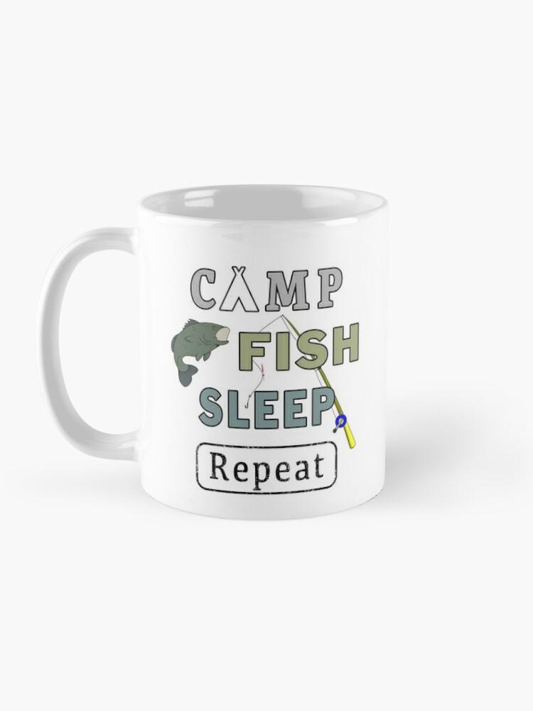 Alternate view of Camp Fish Sleep Repeat Campground Charter Slumber. Mug