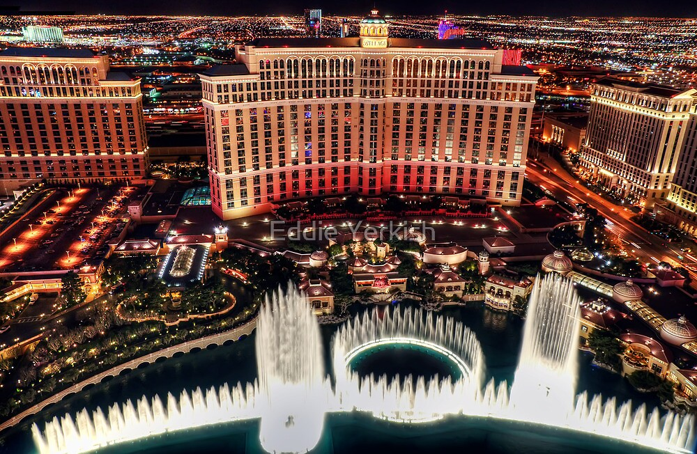 The Bellagio Fountains by Eddie Yerkish