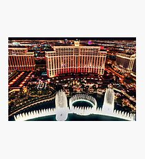 The Bellagio Fountains Photographic Print