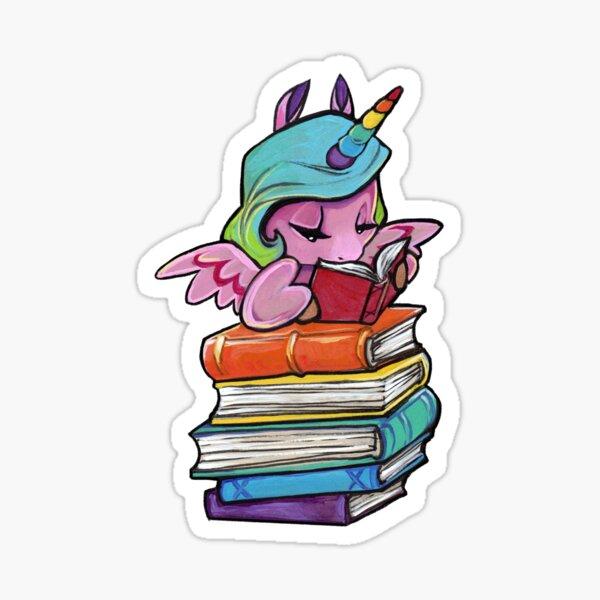 Rainbow Library unicorn  Sticker