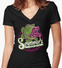Seymour's Organic Plant Food Women's Fitted V-Neck T-Shirt