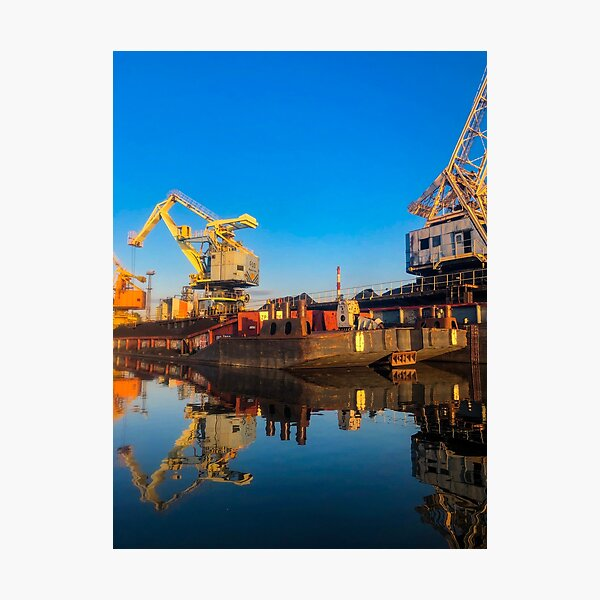 The City Port of Wroclaw (Port Miejski) Photographic Print