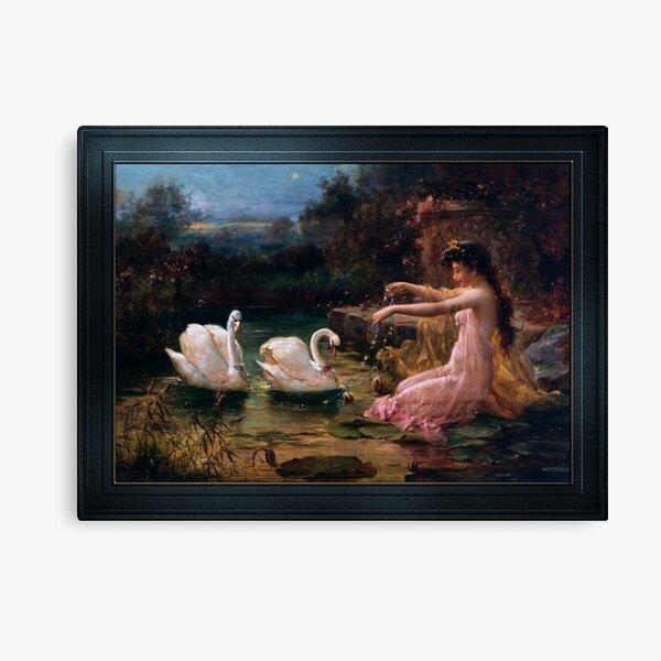At The Swan Lake by Hans Zatzka Canvas Print