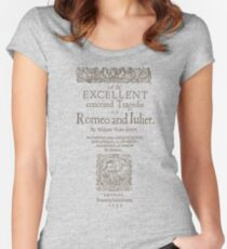 Shakespeare, Romeo and Juliet 1597 Camiseta entallada de cuello redondo