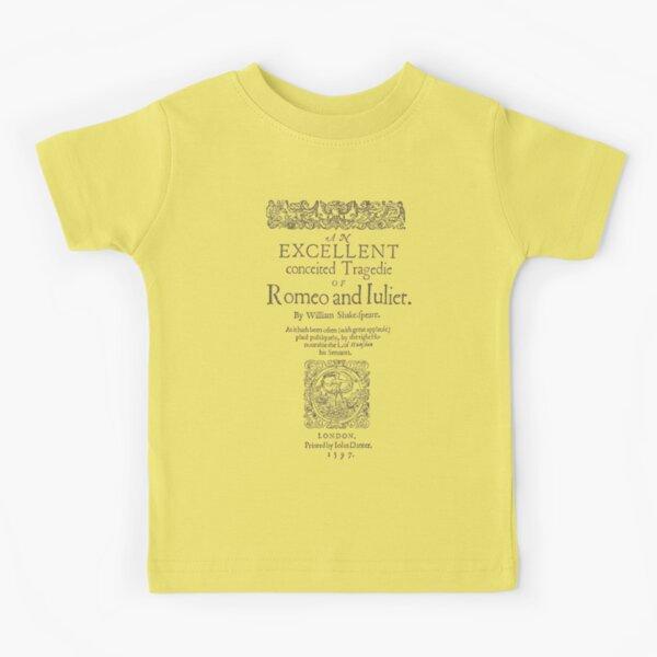 Shakespeare, Romeo and Juliet 1597 Camiseta para niños