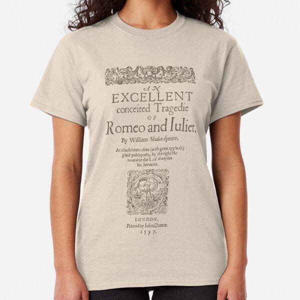 Shakespeare, Romeo and Juliet 1597 Camiseta clásica