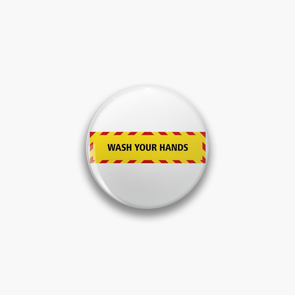 NDVH Wash Your Hands (coronavirus) Pin