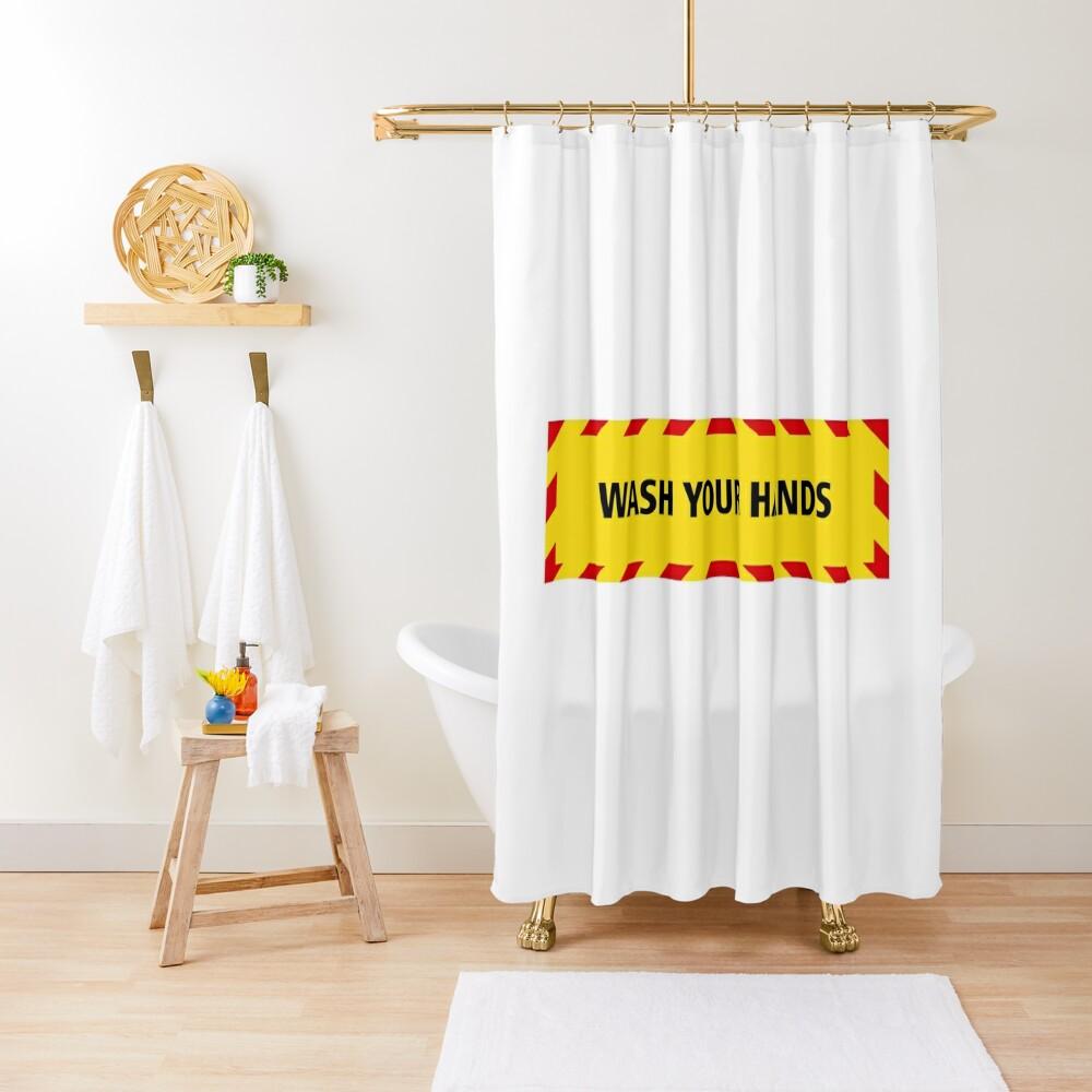 NDVH Wash Your Hands (coronavirus) Shower Curtain