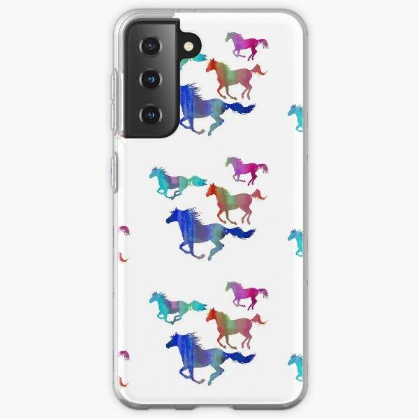 Four Running Horses 3 Samsung Galaxy Soft Case