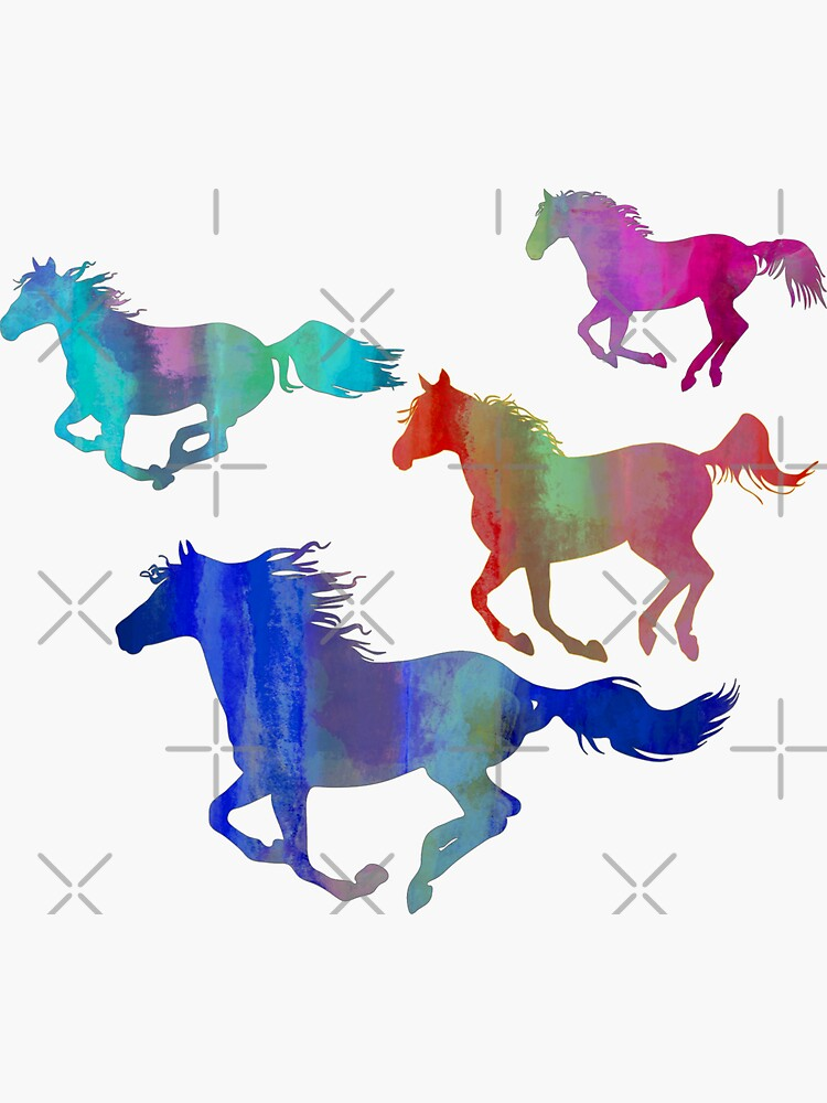Four Running Horses 3 by Horse-Aholic