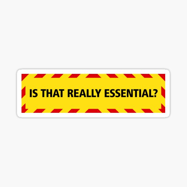 NDVH Is that really essential? (coronavirus) Sticker