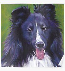 Shetland Sheepdog  Fine Art Painting Poster