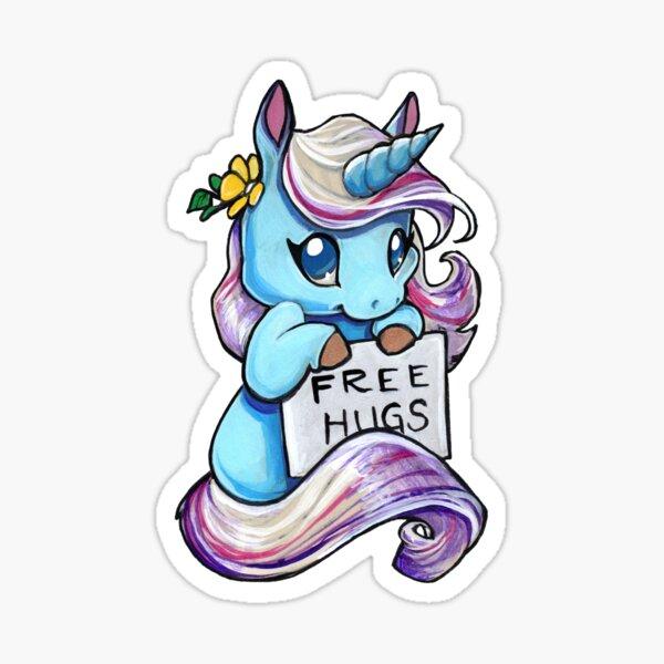 Free hugs emotional support unicorn  Sticker