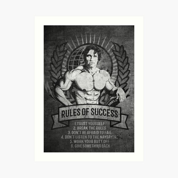 Arnold Schwarzenegger: The Rules of Succes Art Print