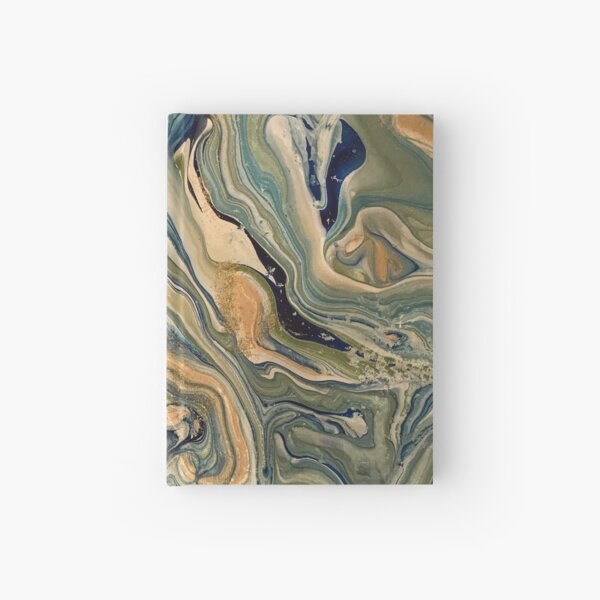 Poured paint on canvas Hardcover Journal
