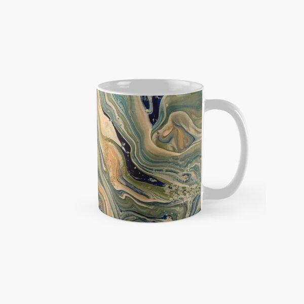 Poured paint on canvas Classic Mug